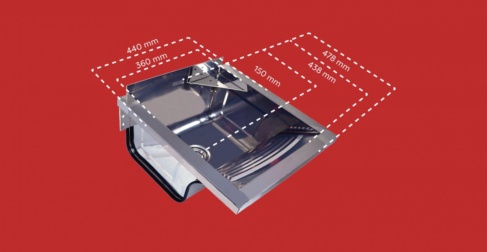Tanque Inox Alto Brilho para Fixar Franke TS-360 Com Espelho
