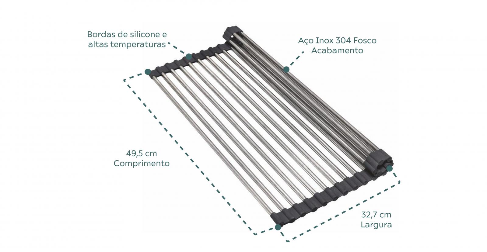 Grade Escorredora Debacco Grid Drainer Multiuso Em Aço Inox