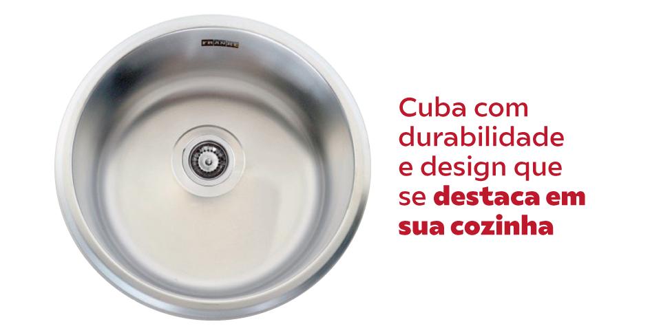 Cuba Inox Sobrepor Franke Rambla Fosca 30cm Grátis Válvula