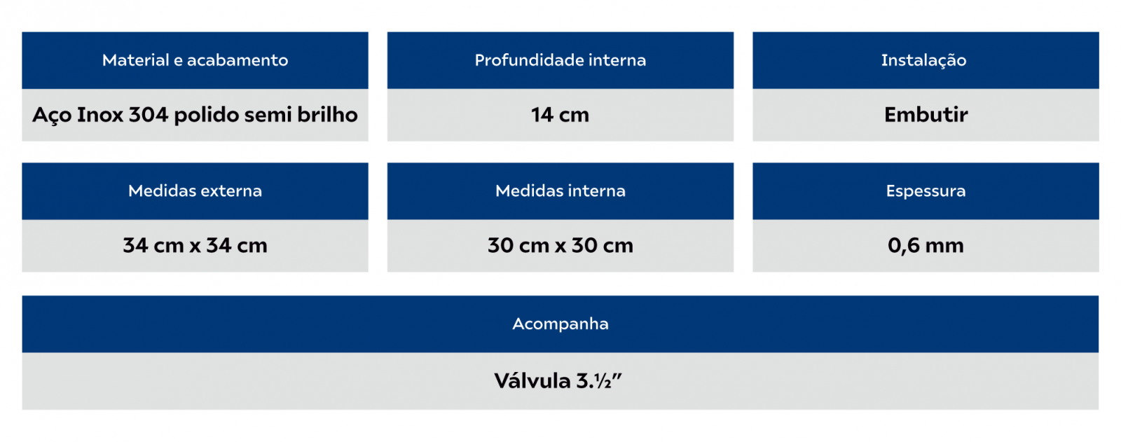 Cuba Redonda Tramontina Luna D30cm Linha Perfecta