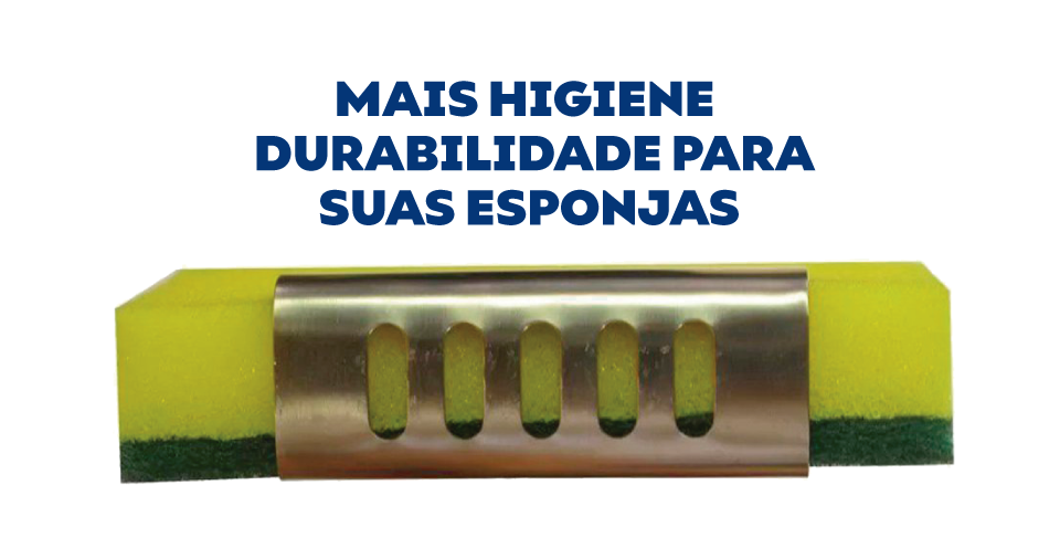 Suporte Porta Esponja Em Inox Com Ventosa Para Cubas e Pias