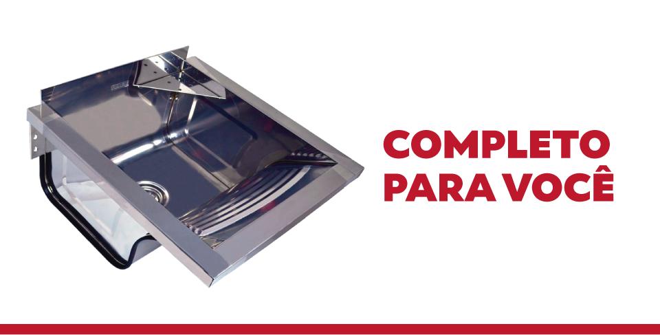 Tanque Inox Para Fixar Na Parede Franke TS-360 Com Espelho