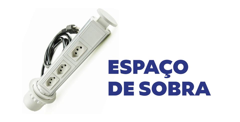 Torre de Tomadas Branca Manual Multiplug Retrátil Pratik 10A