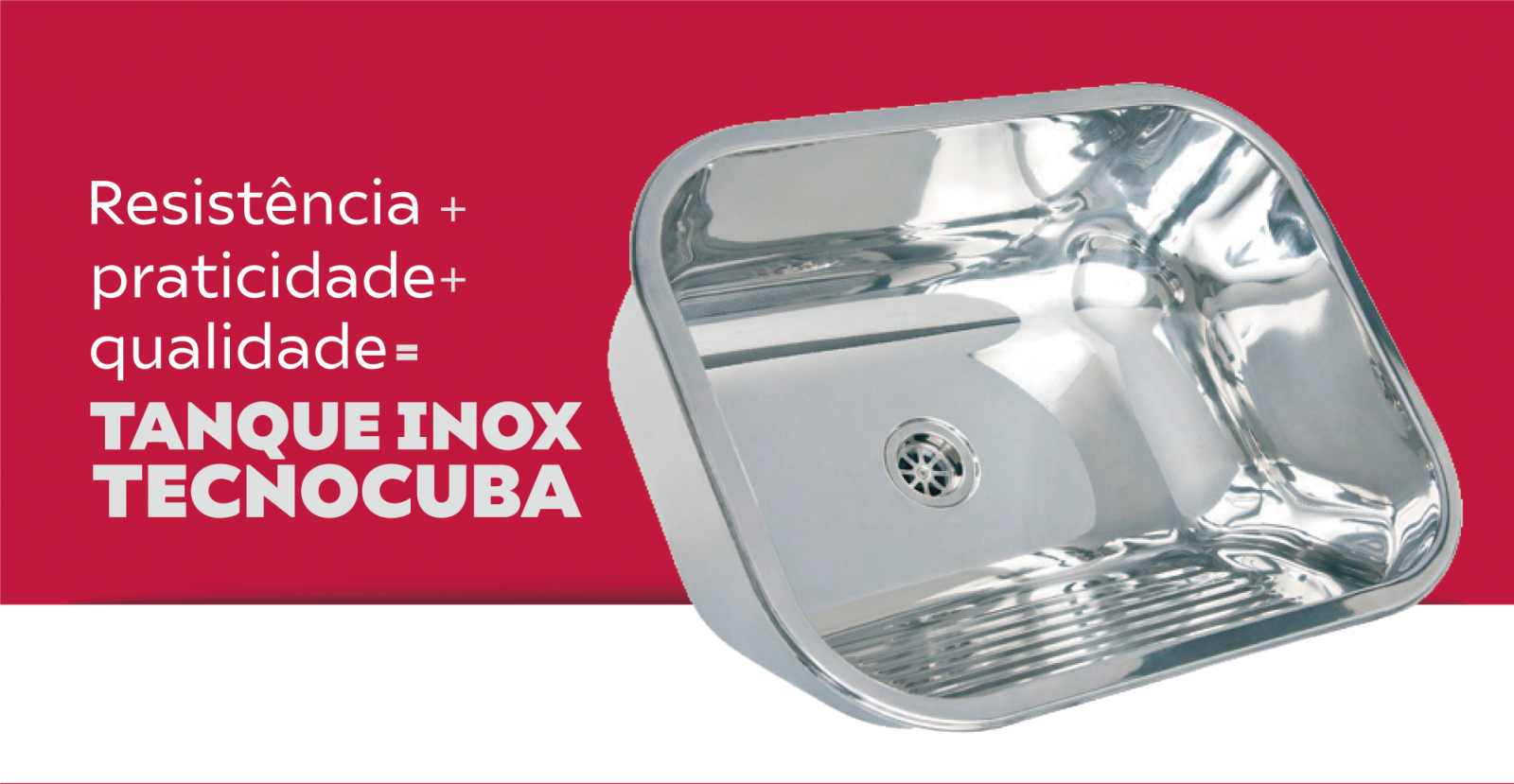 Tanque Inox Tecnocuba 50x40x22cm 25 litros com válvula