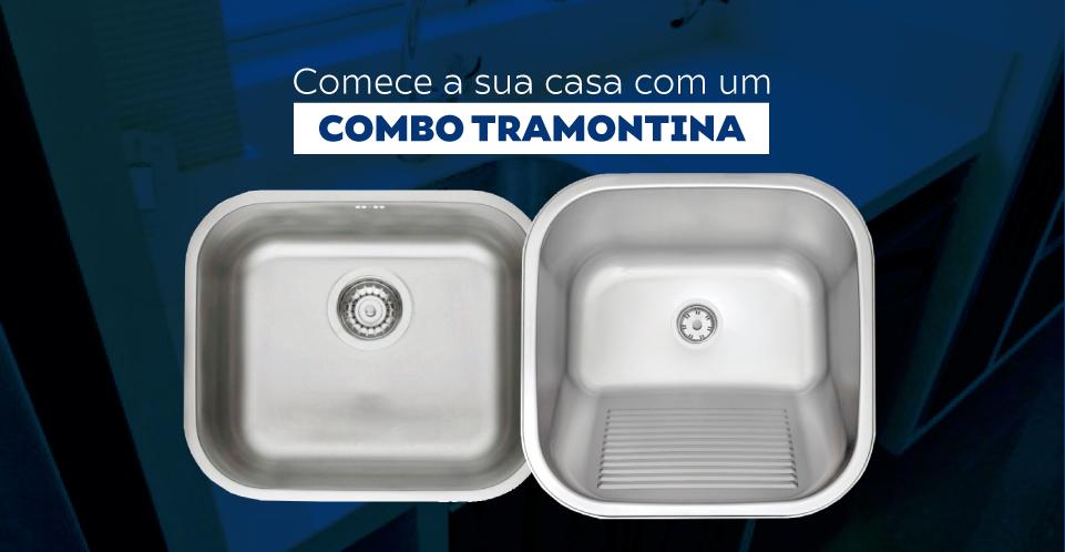 Combo Tramontina Cuba Fosca 40x34x17cm Tanque Fosco 40x40cm