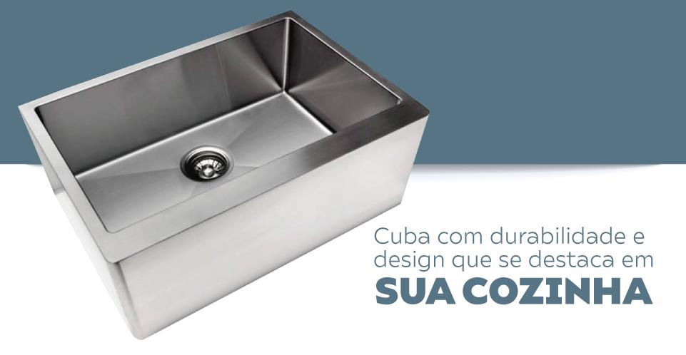 Cuba Inox Sink Estilo Fazenda Farm FM 650 Fosca 65x45x25cm