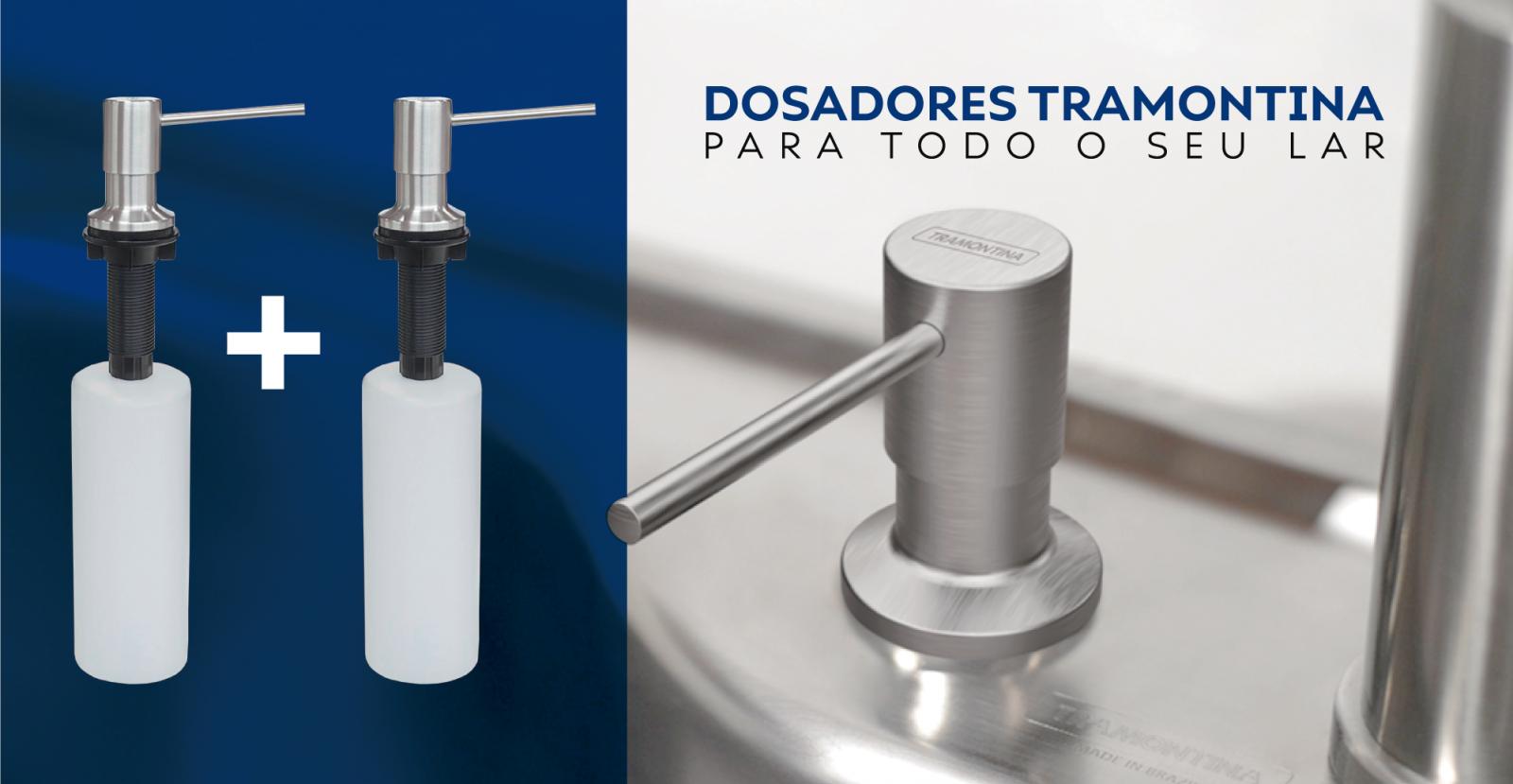 Combo Dosadores de Detergente Tramontina Inox Fosco - 500ml