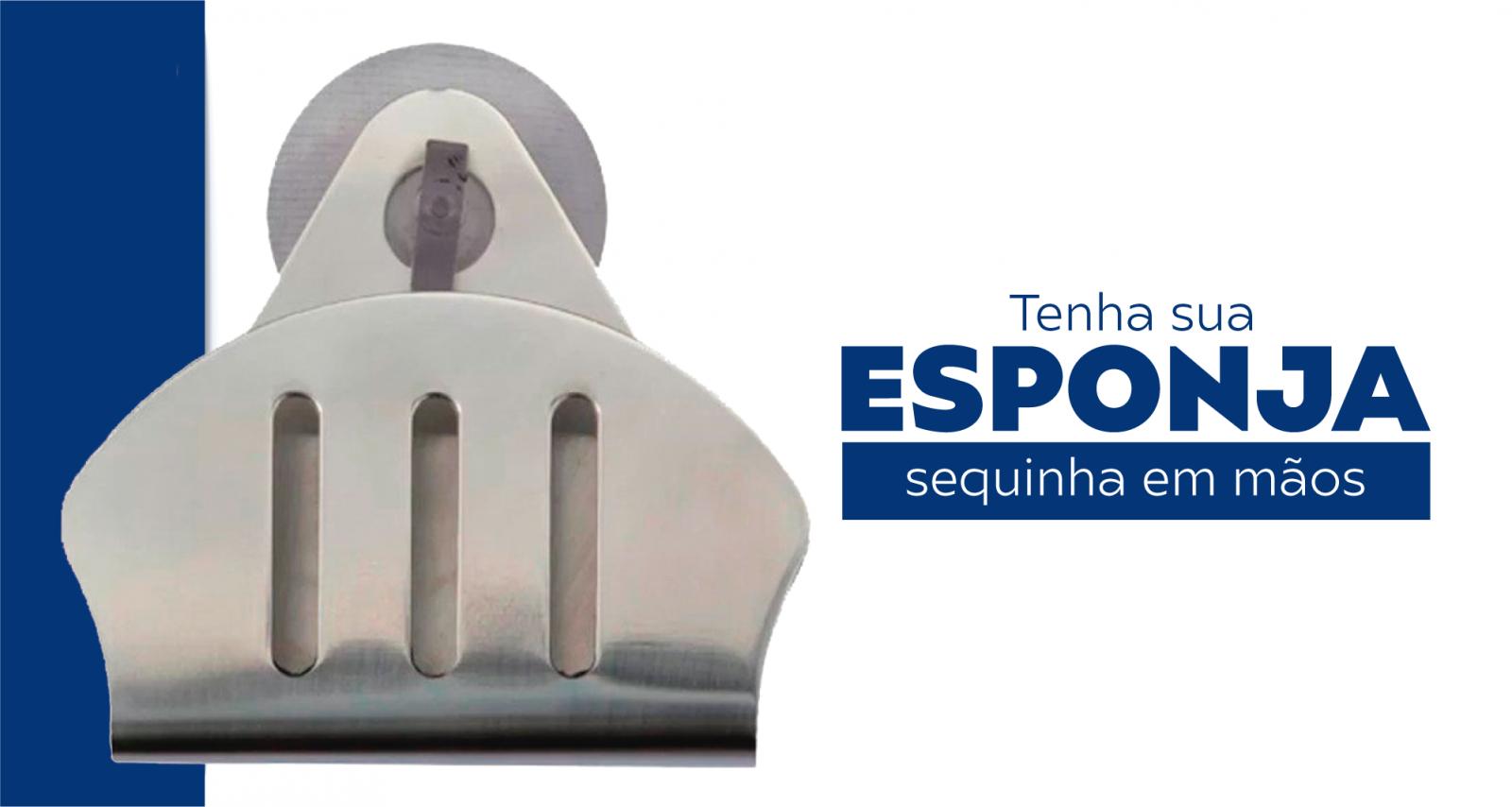 Combo Dosador Tramontina 500ml Fosco e Suporte Porta Esponja
