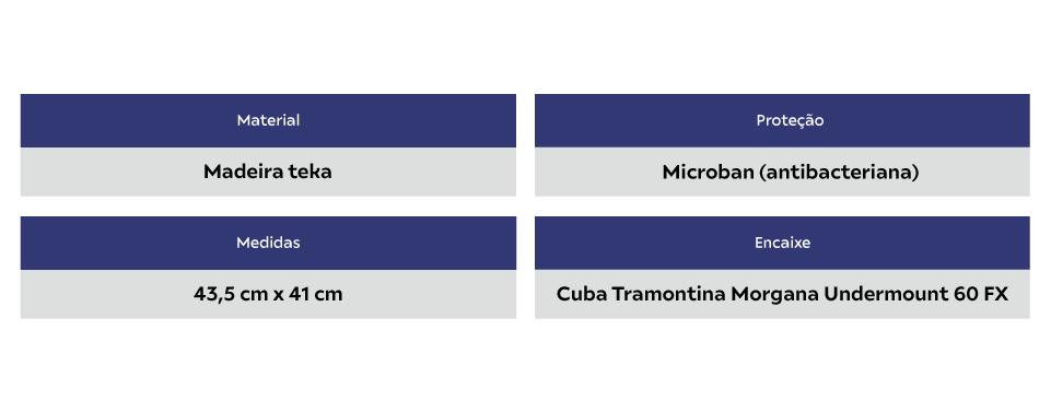 Tábua Para Cuba Morgana 60 FX ( 68x50 ) Tramontina