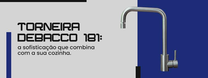 Torneira Debacco 181: a sofisticação que combina com a sua cozinha