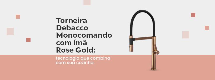 Torneira Monocomando Debacco Rose Gold Com Imã