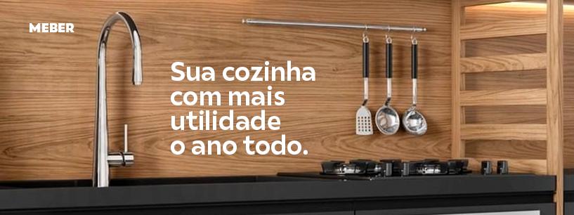 Sua cozinha com mais utilidade o ano todo com a torneira Monocomando da Meber