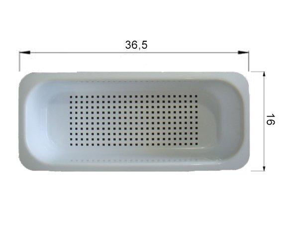 Cesto Escorredor Branco Cuba Franke Bell BCX 610-61 Menor