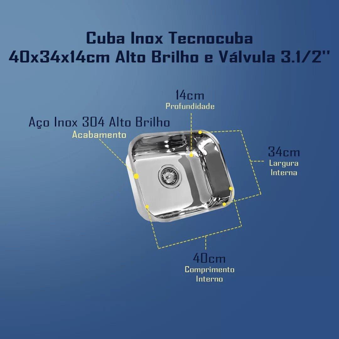 Combo Tecnocuba 40x34x14+Dosador Pianox+Lixeira Pratice 5Lits