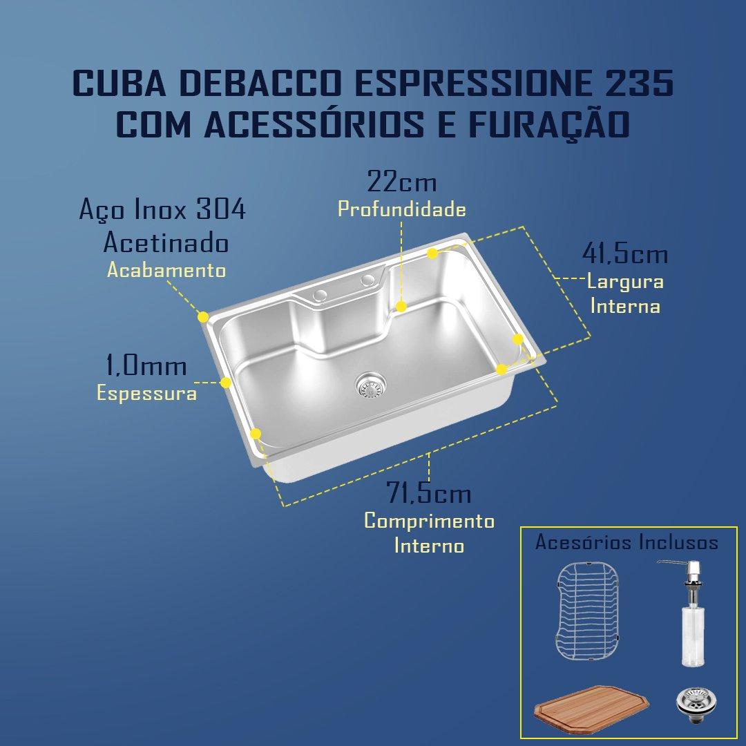 Medidas Cuba Debacco Espressione 235