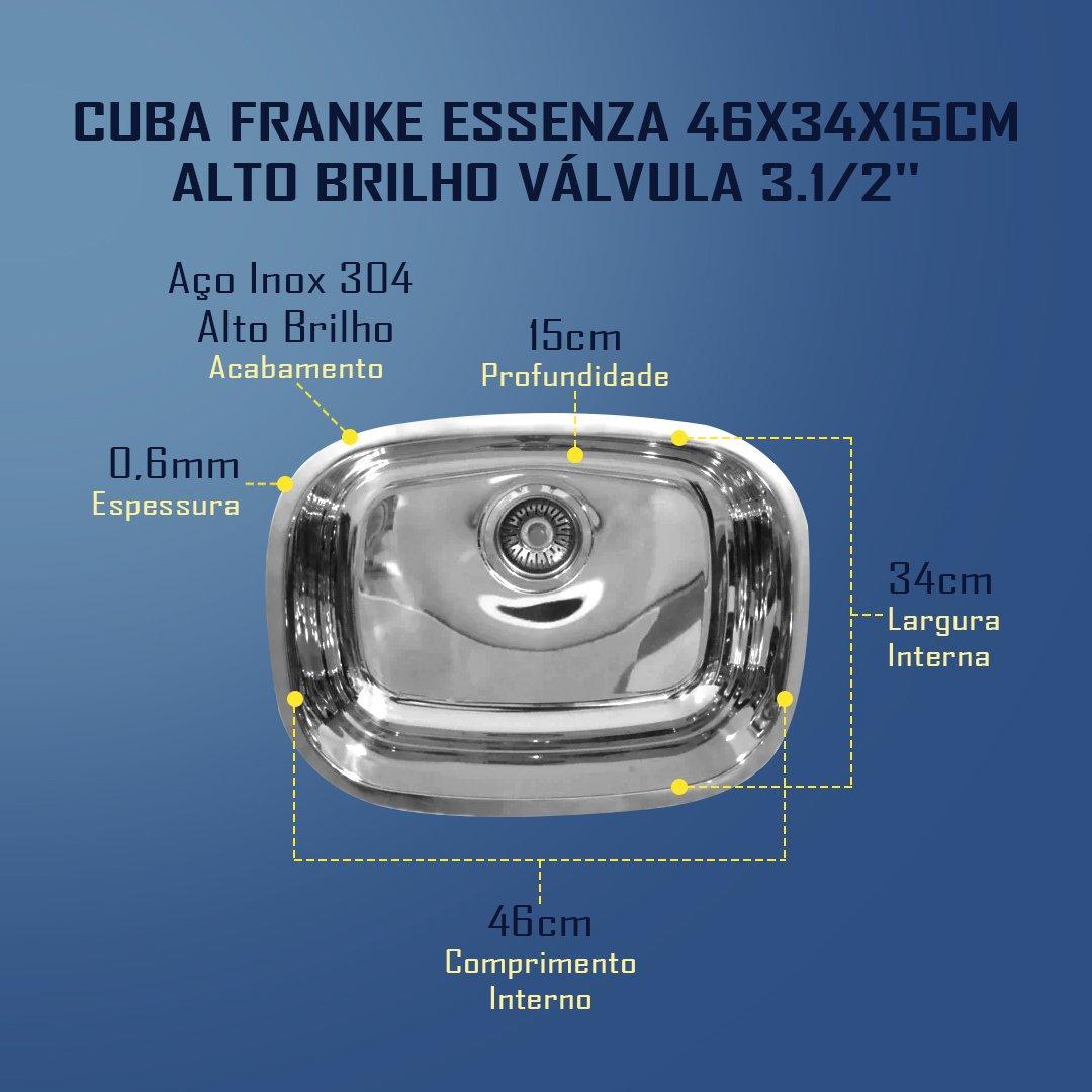 Medidas Cuba Franke Essenza 46