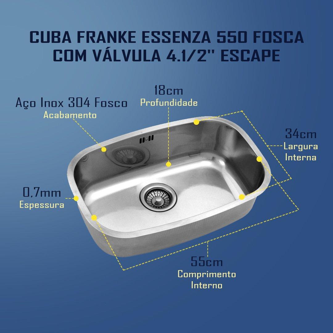 Medidas Franke Essenza 550