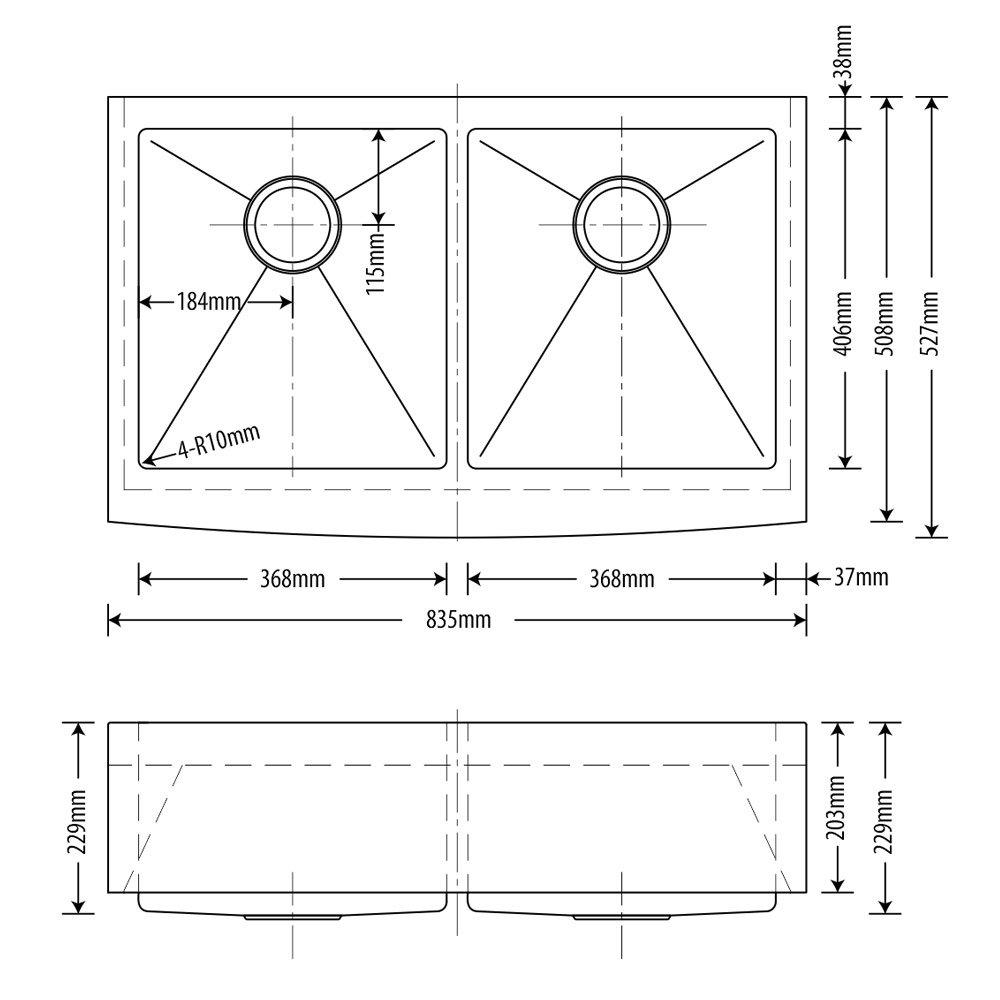 Cuba Inox Arell Dupla Estilo Fazenda 83x52x23cm SA202