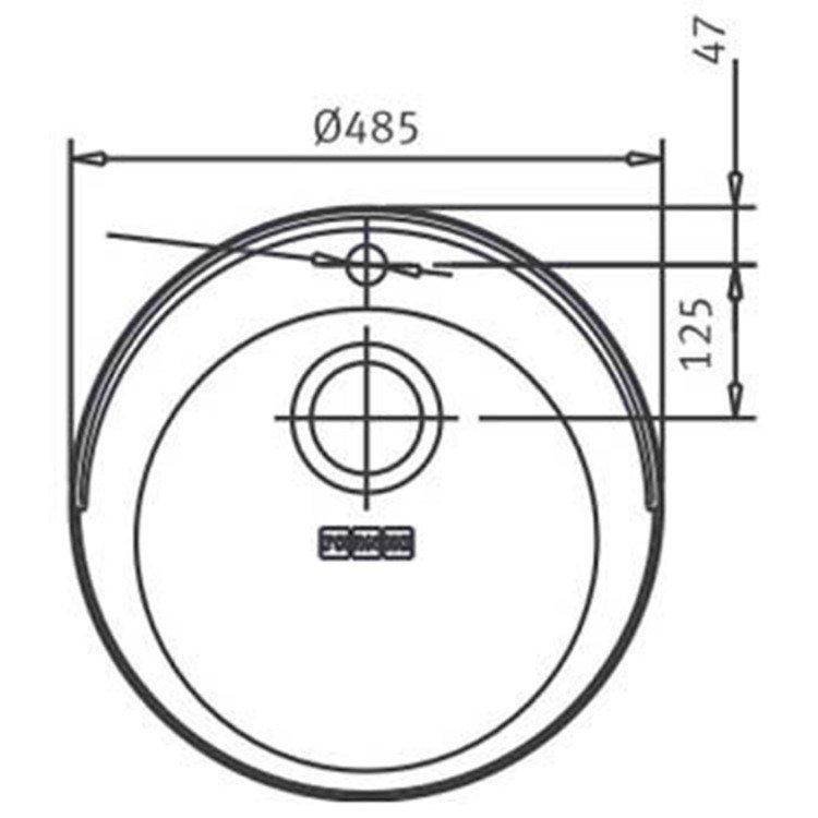 Medidas e Desenho Técnico da Cuba Franke Rambla 300