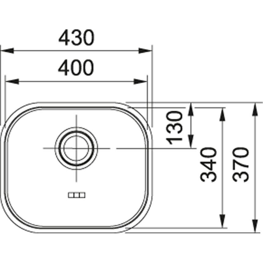 Medidas e Desenho Técnico da Cuba N3 Franke Polida