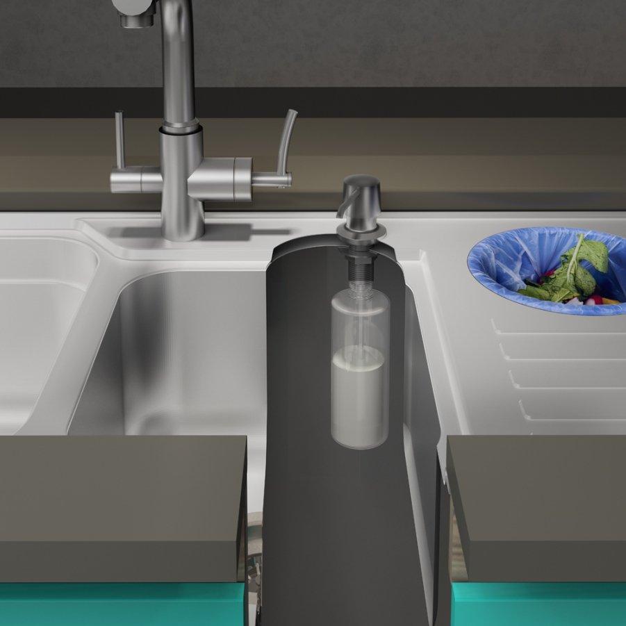 Dosador De Detergente Cromado 350ml Ghelplus