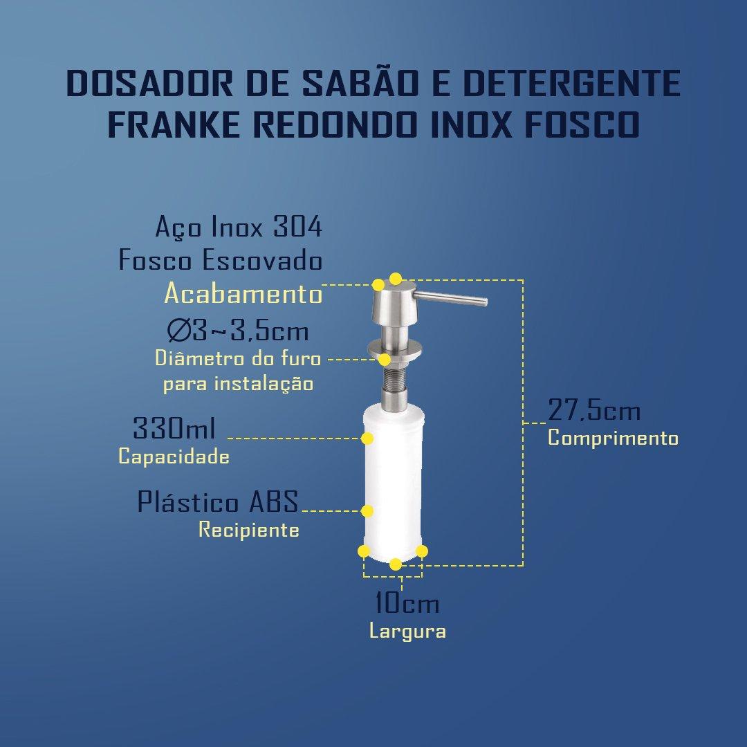Medidas Dosador Franke Redondo Fosco