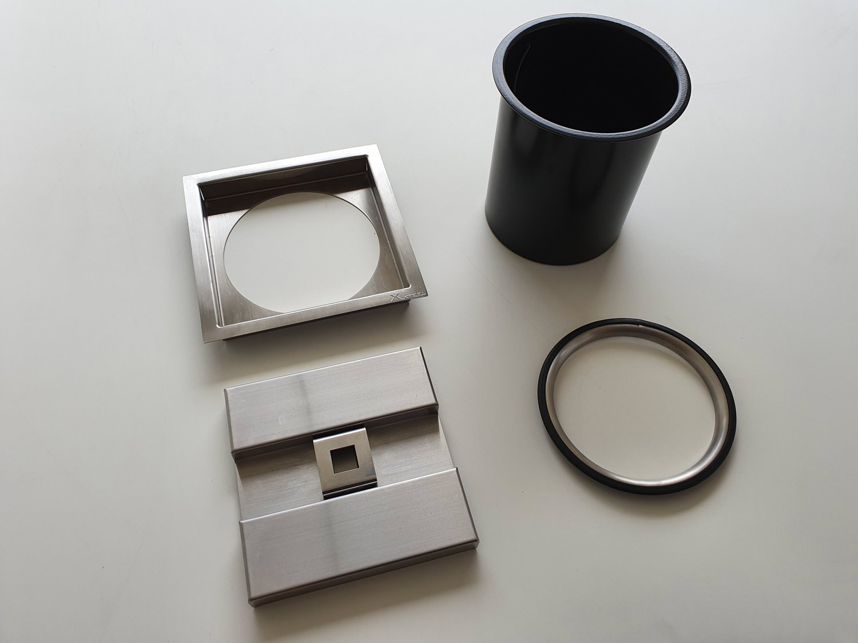 Lixeira Inox Quadrada 8 Litros Xteel Para Embutir no Granito
