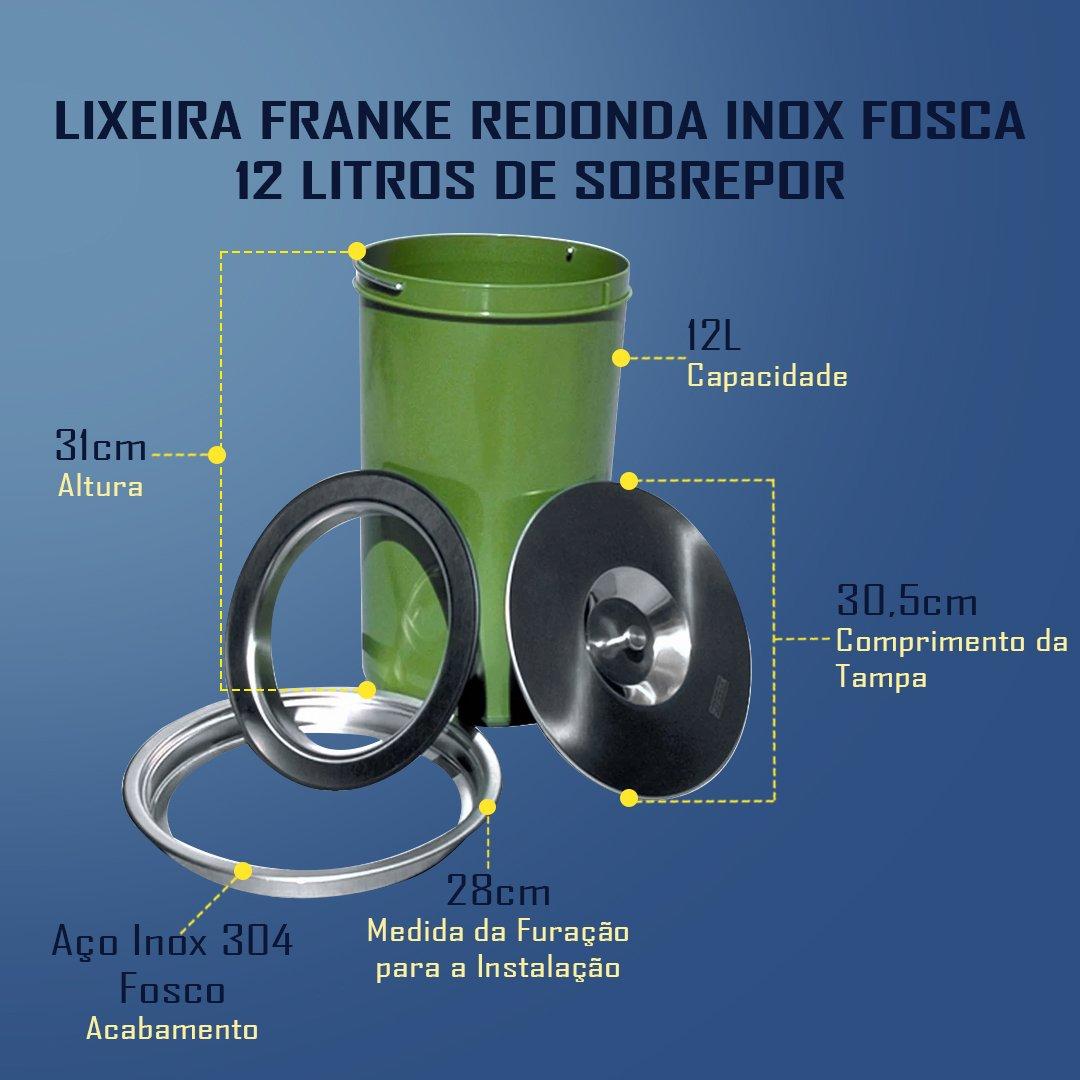 Medidas Franke Redonda Fosca 12 Litros
