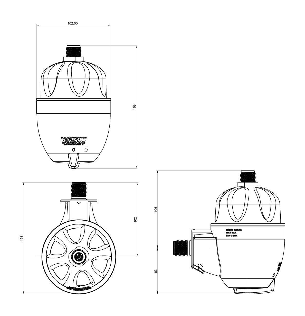 Aquecedor Elétrico Maxi Ultra Lorenzetti 220V 5500W