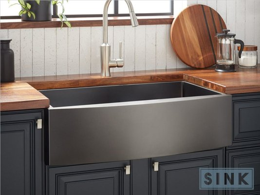 Cuba Sink Estilo Fazenda All Black Farm FM840 (84x53x25cm)