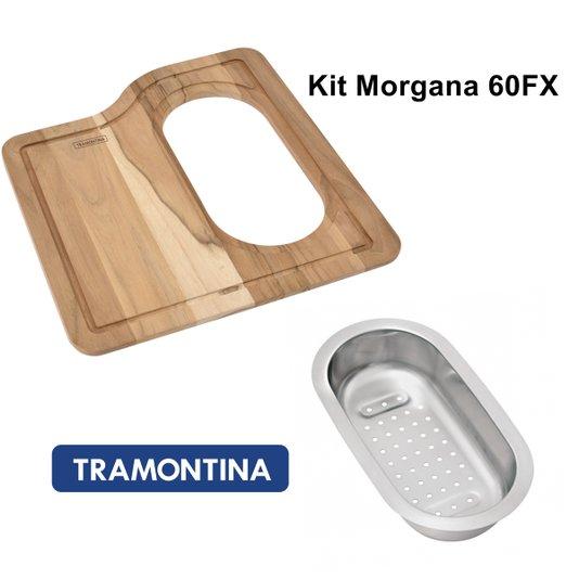 Kit Acessórios Tábua e Cesto Da Cuba Morgana 60FX Tramontina