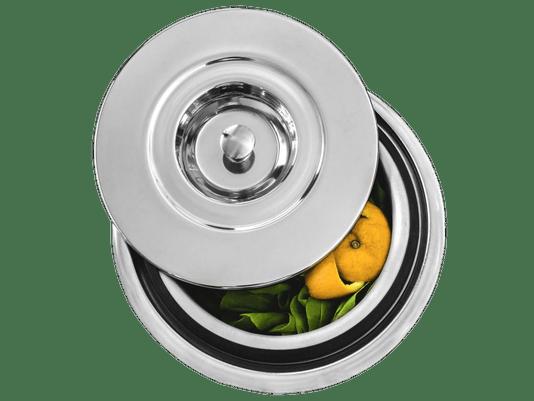 Lixeira Inox PRATICE 3,5 Litros Alto Brilho Embutir Granito