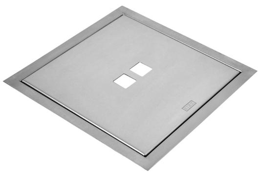 Lixeira Inox Quadrada Sink 3,5 Litros de Embutir Granito