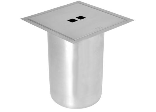 Lixeira Inox Quadrada Sink 5 Litros de Embutir Granito