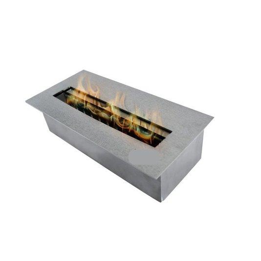 Queimador Ecológico Inox S30 Para Lareira ( 30cmx16cm )