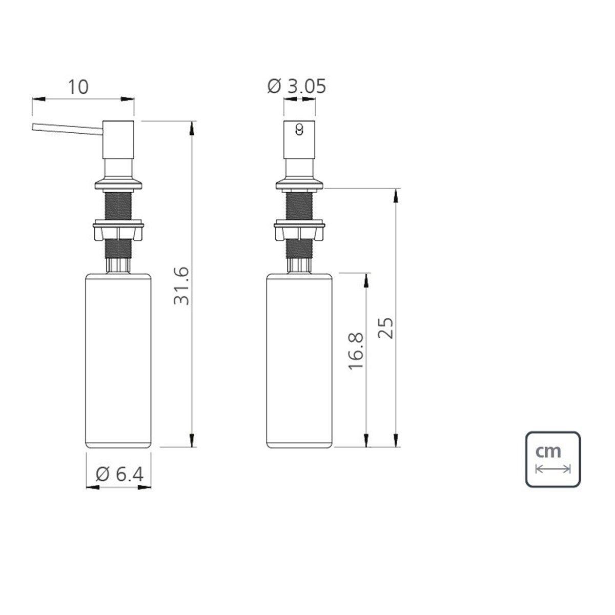 Novo Dosador Sabão/Detergente Tramontina Inox Fosco 500 ml