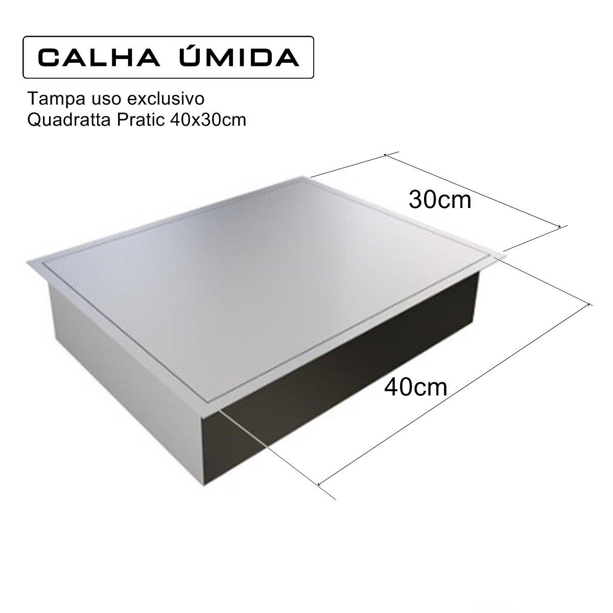 Tampa Para Calha Úmida Lateral Quadratta Pratic 40x30cm