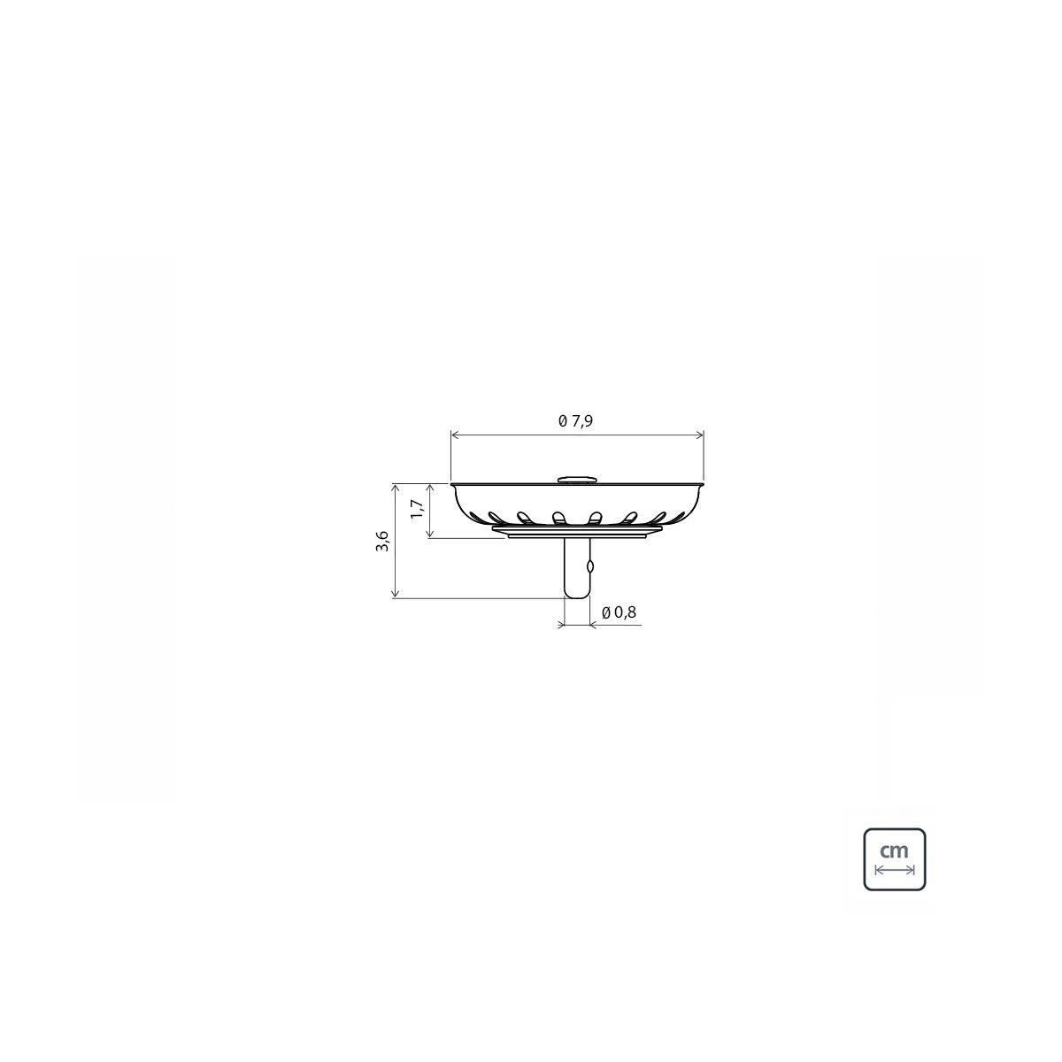 Tampa Peneira Para Válvula 4.1/2'' Tramontina Prime 7,9cm