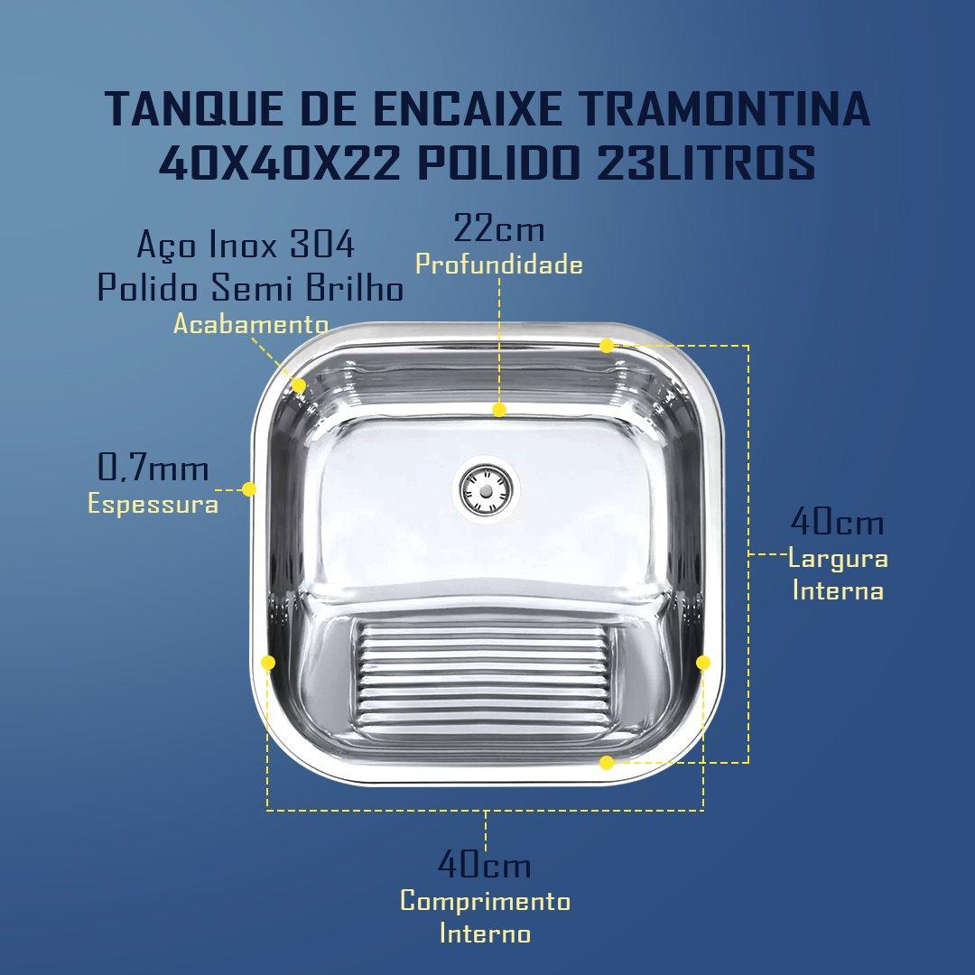 Medidas Tanque Tramontina 40x40