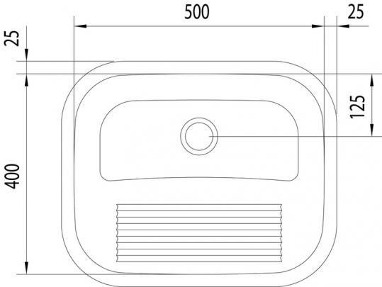 Medidas e Desenho Técnico do Tanque De Encaixe Tramontina Polido 30 Litros