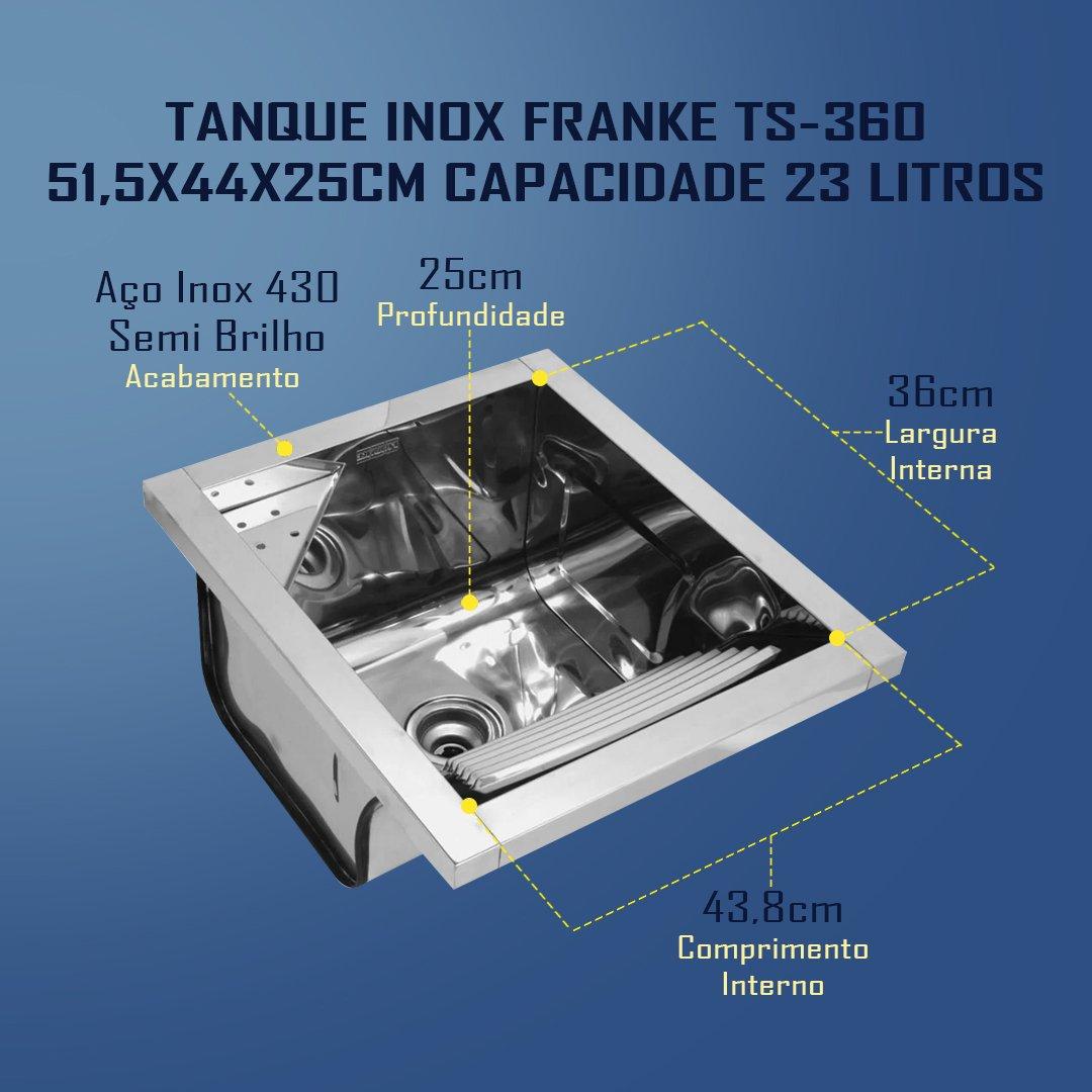 Medidas Tanque Franke TS-360