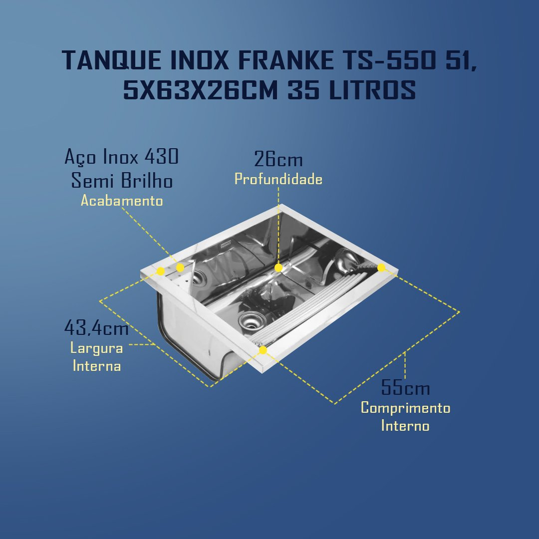 Medidas Tanque Inox Franke