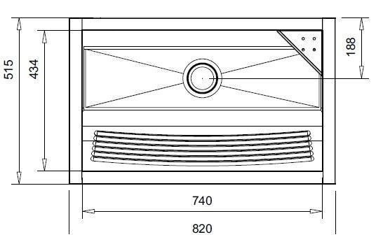 Medidas e Desenho Técnico do Tanque Inox Franke TS-740
