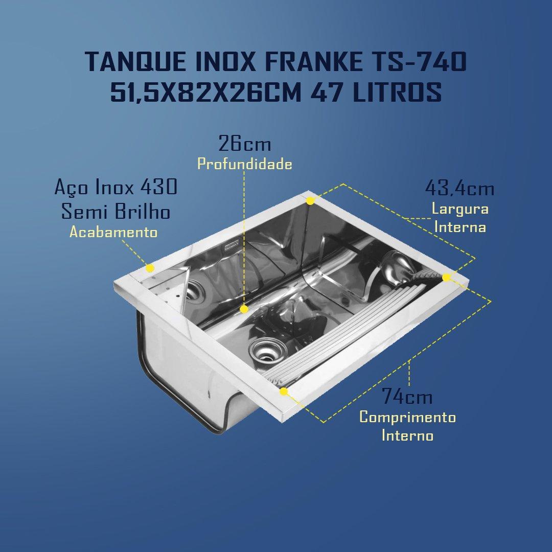 Medidas Cuba Franke TS-740