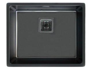 Cuba Inox All Black 50x40x20cm Square Sink