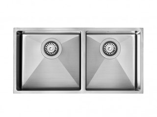 Cuba Inox Sink Boxed Dupla BX 810 - ( 77x37x20cm ) Fosca