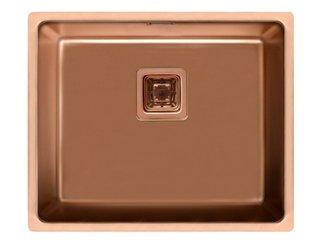 Cuba Inox Rose Gold 50x40x20cm Square Sink