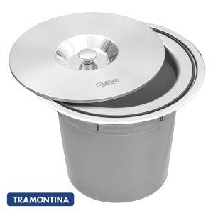 Lixeira Inox Tramontina 5 litros Clean Round de Embutir
