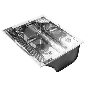 Tanque Inox Pianox Médio Sem Espelho 61x54x25cm 46L