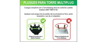 Torre De Tomadas Retrátil Multiplug Renna